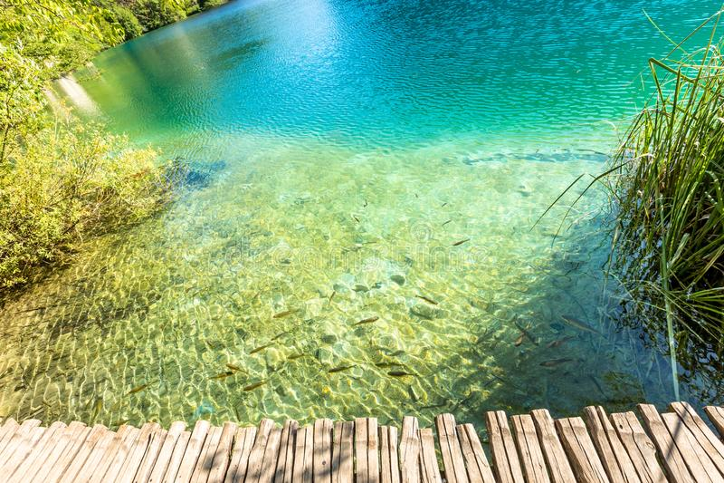 Plitvice Lakes, Croatia Waterfall. Amazing Place. stock photos