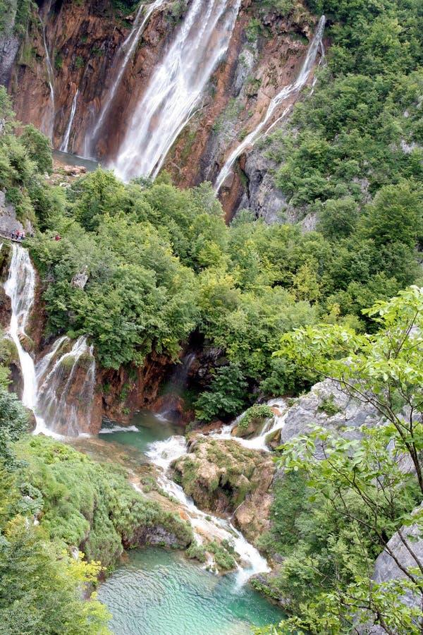 Plitvice Lakes Croatian park - waterfall royalty free stock photos