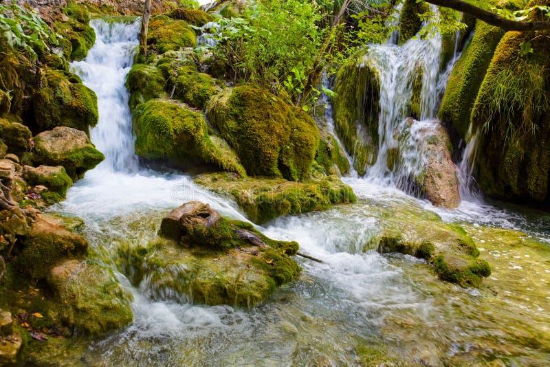 Plitvice lakes i Kroatien arkivfoto