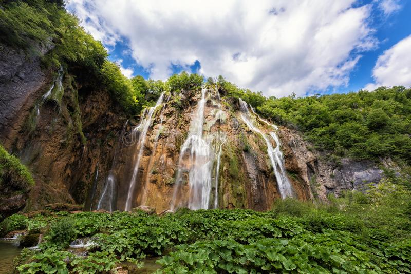 Plitvice Lakes National park, beautiful landscape with waterfalls, lakes and forest, Croatia stock photo