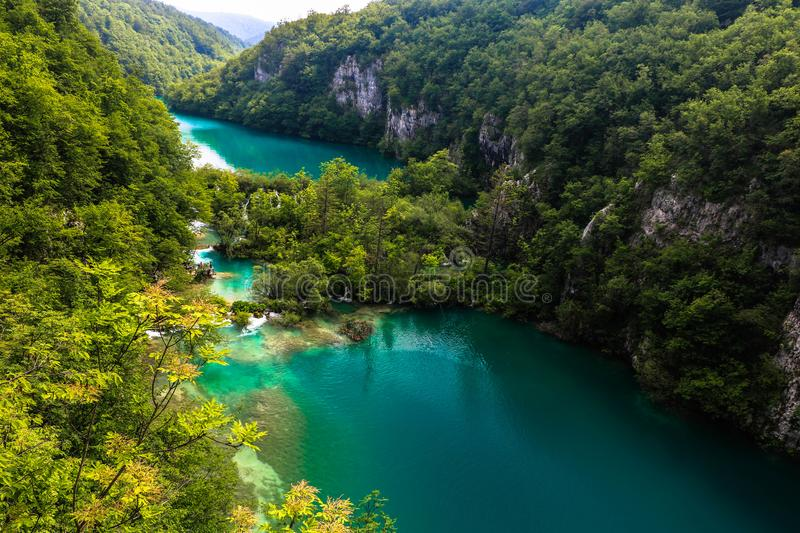 Amazing Plitvice Lakes National Park, Croatia. The Plitvice Lakes National Park, Croatia's most popular tourist attraction, was granted UNESCO World royalty free stock images