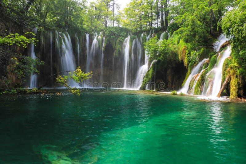 Amazing Plitvice Lakes National Park, Croatia stock images