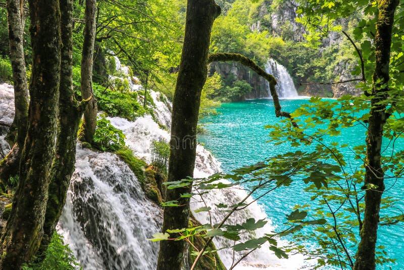Amazing Plitvice Lakes National Park, Croatia stock image