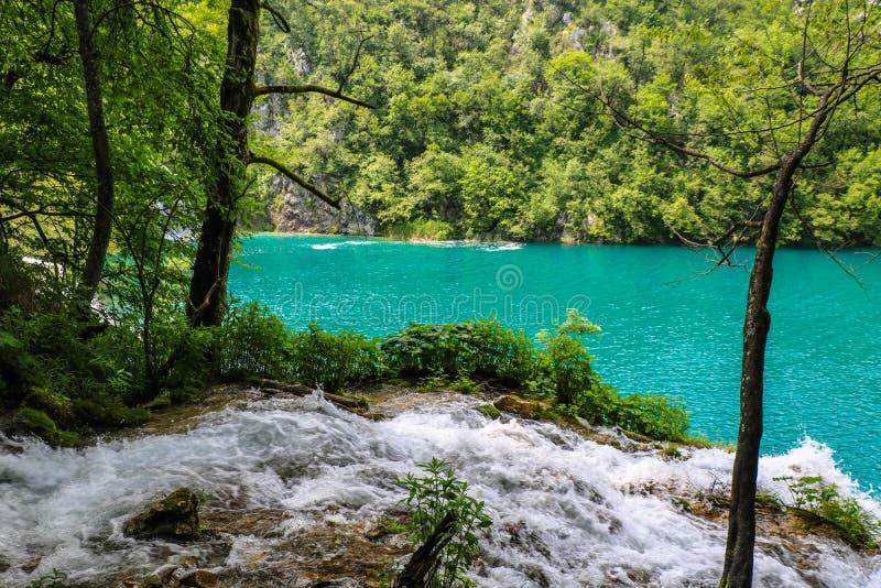 Amazing Plitvice Lakes National Park, Croatia royalty free stock photos