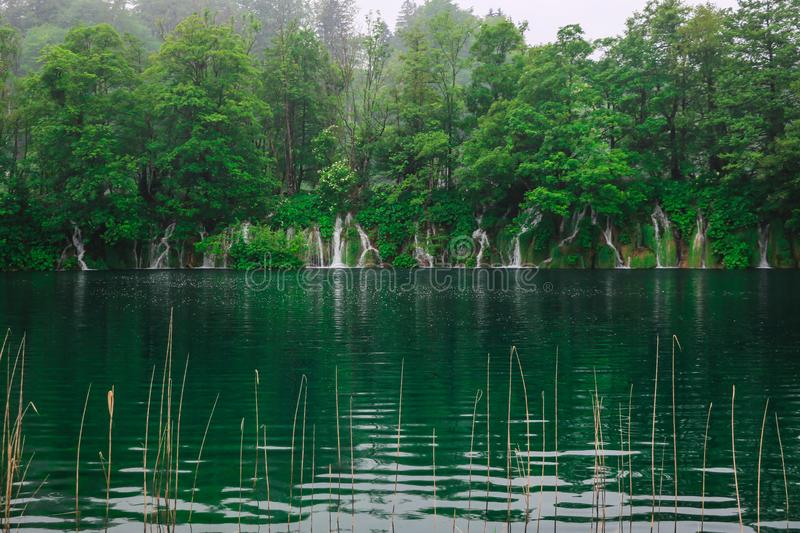 Amazing Plitvice Lakes National Park, Croatia stock photos