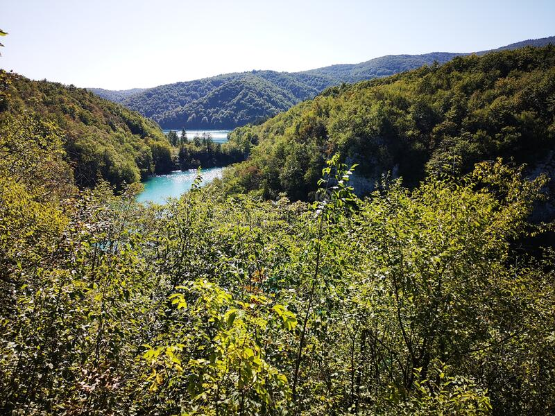 Plitvice lakes National Park Croatia.Artistic look in colours. royalty free stock photos