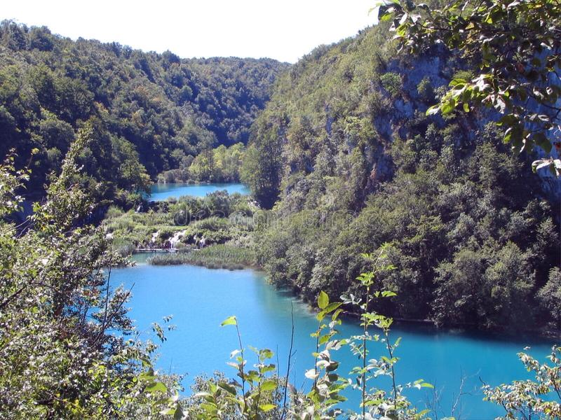 Plitvice Lakes National Park, Croatia. Largest national park in Croatia world famous for its lakes arranged in cascades. In 1979, Plitvice Lakes National Park royalty free stock photo