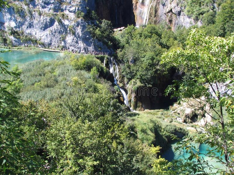 Plitvice Lakes National Park, Croatia. Largest national park in Croatia world famous for its lakes arranged in cascades. In 1979, Plitvice Lakes National Park stock photo