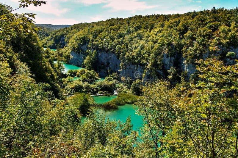 Plitvice Lakes National Park in Croatia royalty free stock image