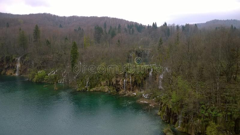 Plitvice lakes. National park, Croatia stock photography
