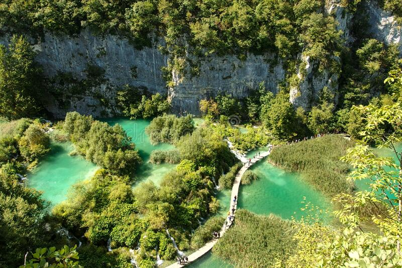 Plitvice Lakes National Park in Croatia royalty free stock photo