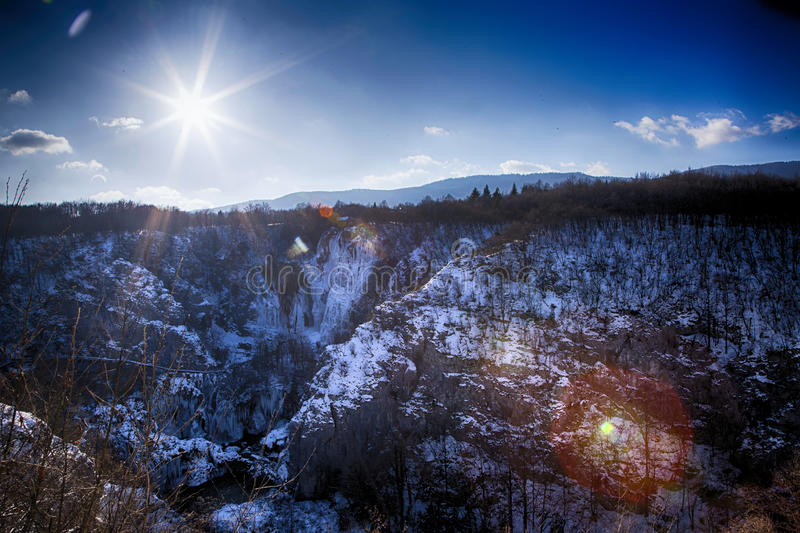 Download Plitvice lakes. stock image. Image of january, touristic - 83718709