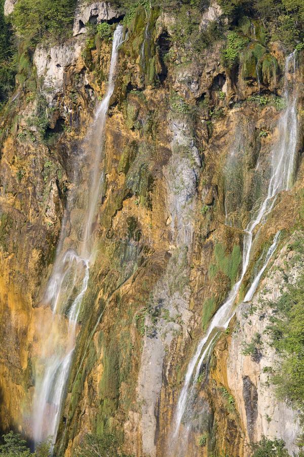 Plitvice Lakes National Park, a miracle of nature, Big Waterfall Veliki slap, Croatia stock photography