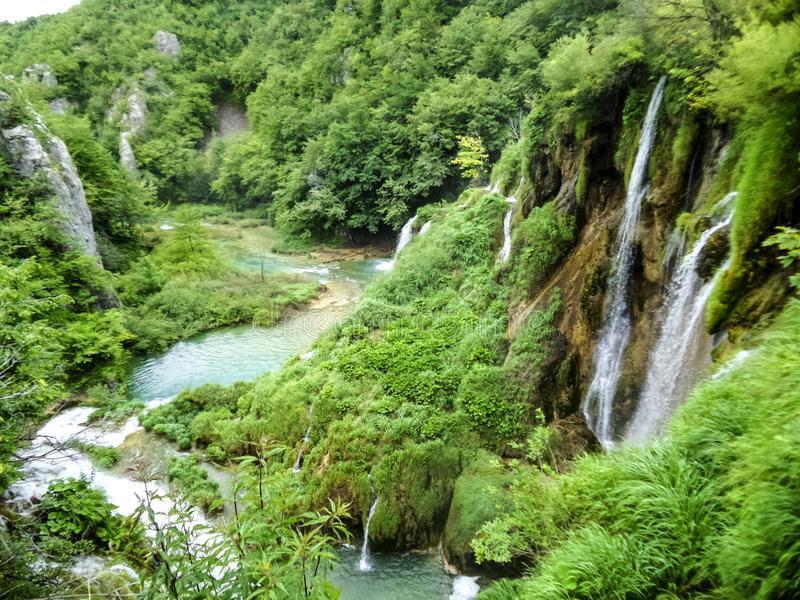 Plitvice Lakes nature wonderland stock photo
