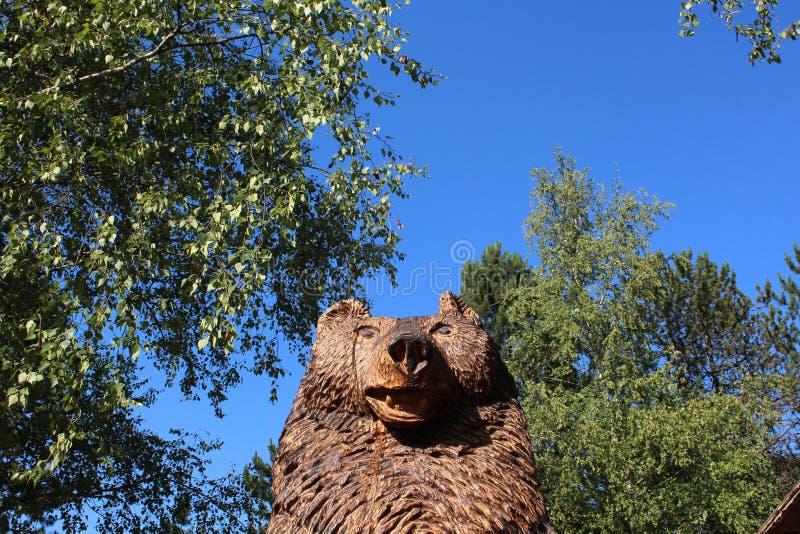 Plitvice lakes park, Croatia, the bear mascotte royalty free stock image