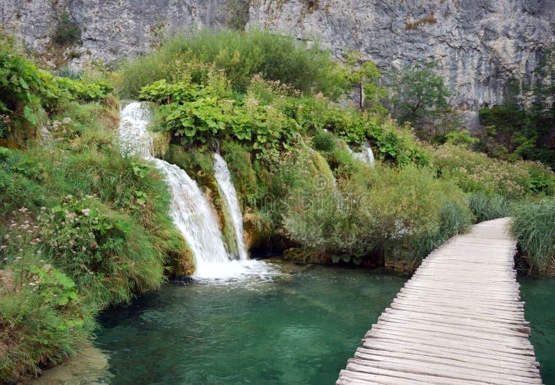 Plitvice Lakes. View of the Plitvice Lakes, Croatia stock photos
