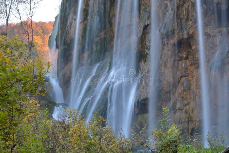 Plitvice lakes waterfall. Plitvice lakes waterfall in Autumn royalty free stock photo