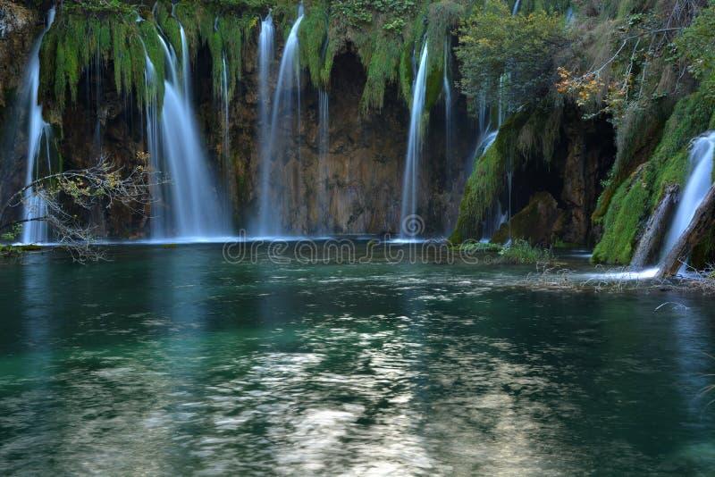 Plitvice lakes waterfall. Plitvice lakes waterfall , Croatia. Autumn in Croatia stock image
