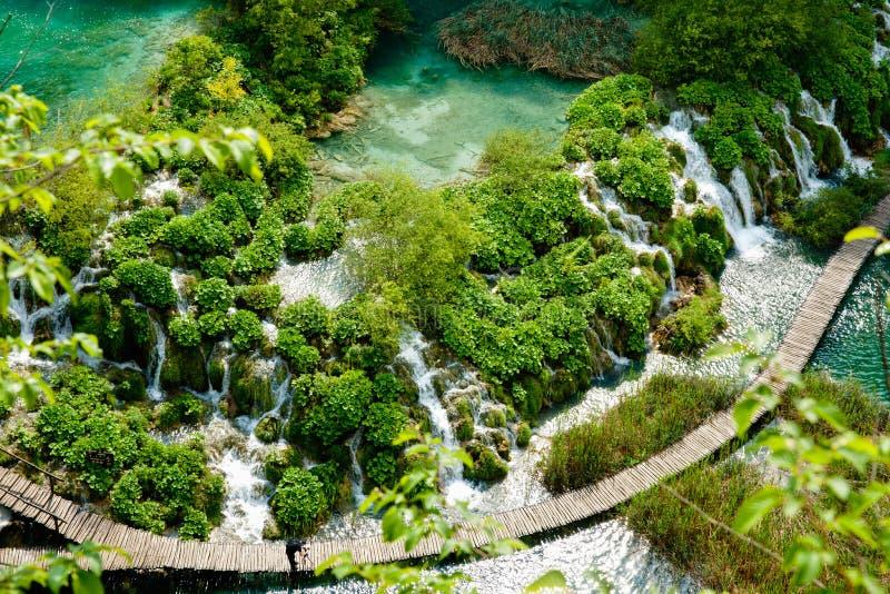 Plitvice National Park, Croatia. Plitvice National Park, lakes, waterfalls and bush, Croatia royalty free stock photo