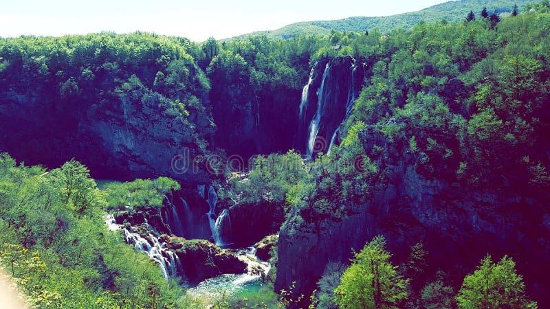 Plitvice nationalpark arkivfoton