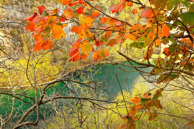Plitvice See Ende Oktober lizenzfreie stockfotografie