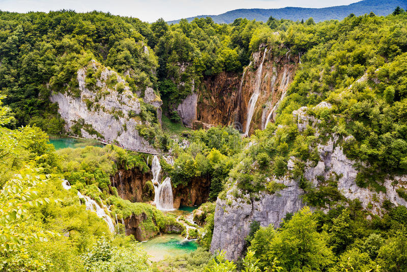 Plitvice See-Nationalpark in Kroatien stockfoto