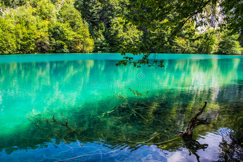 Plitvice Seen stockbild