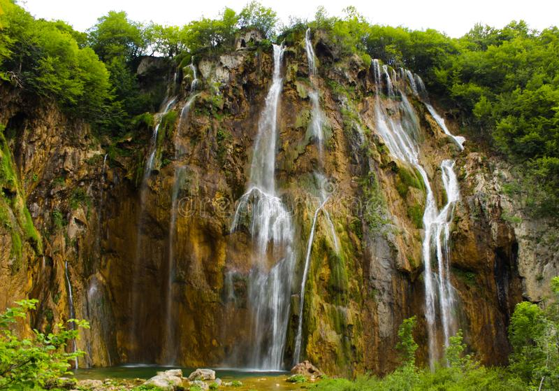 Plitvice Seen Kroatien stockbild