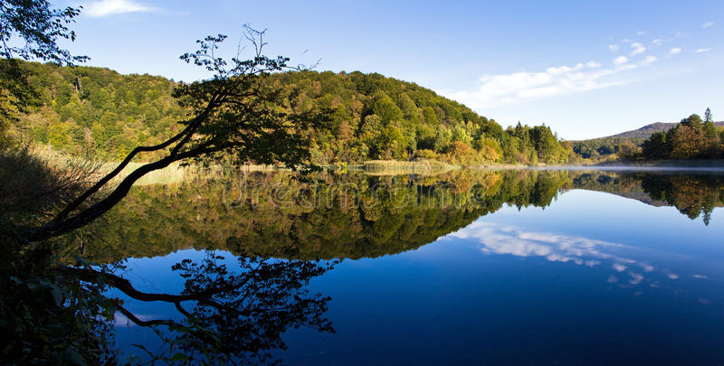 Download Plitvice Silhouette Reflection Stock Photo - Image: 28803680