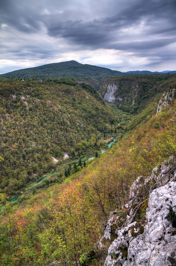 Plitvice valley royalty free stock image