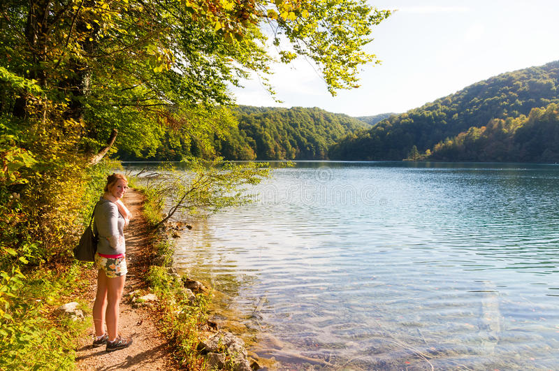 Download Plitvice woman trail stock image. Image of foothpath - 28954659