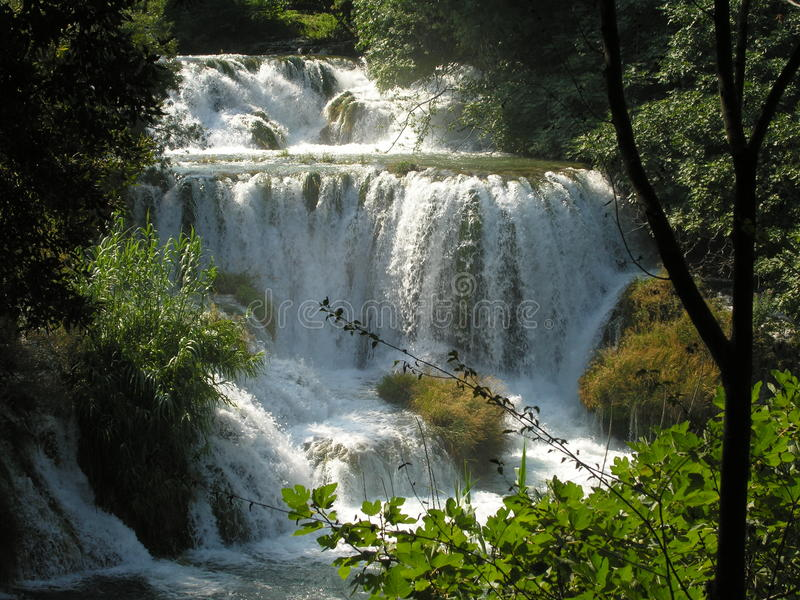 Plitvicemeren en waterval in Kroatië royalty-vrije stock foto