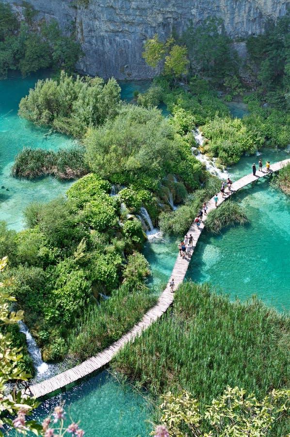 Plitvicemeren in Kroatië stock fotografie