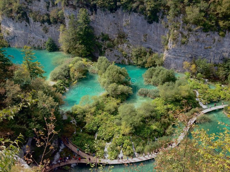 Plitvicka Jezera. Is a municipality in central Croatia, in the eastern part of the Lika-Senj county, that lies in and near the eponymous Plitvice Lakes National stock image