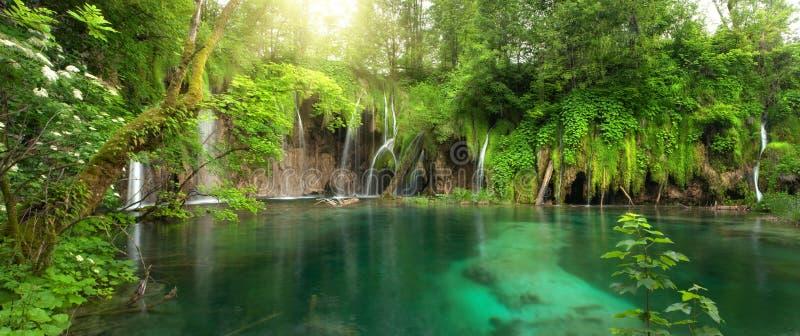 Plitvitce das cachoeiras imagens de stock royalty free