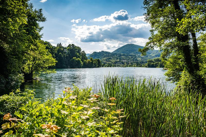 Plivsko Lake is a part artificial, part natural lake in Bosnia and Herzegovina, located in the municipality of Jajce.  royalty free stock images