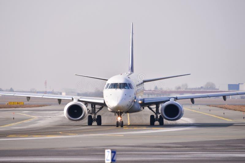 PLL udziału samolotu widok zdjęcia royalty free
