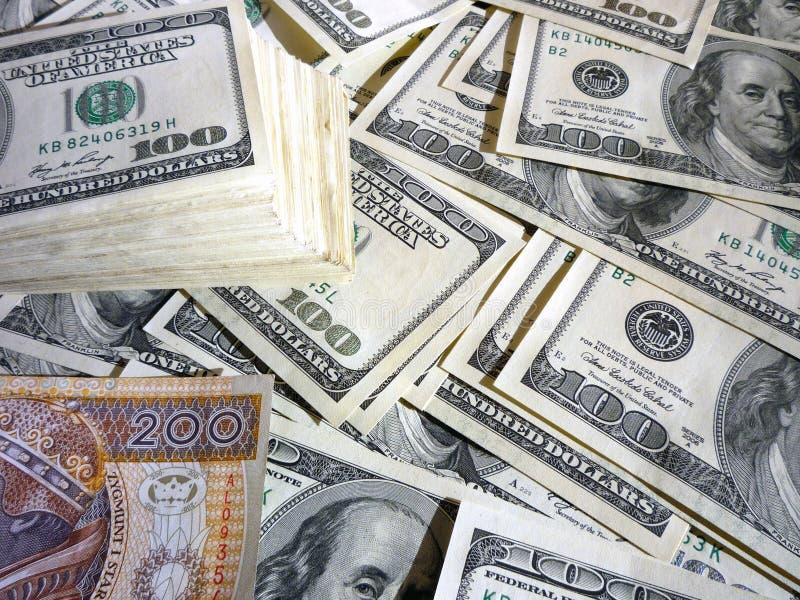 Pln d'USD d'argent photos libres de droits