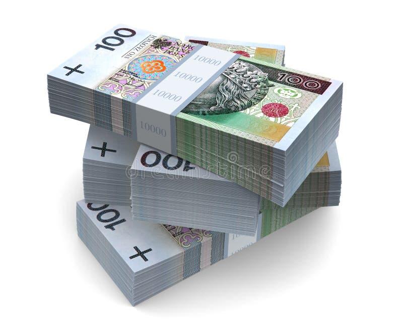 PLN rachunki (z ścinek ścieżką) ilustracji