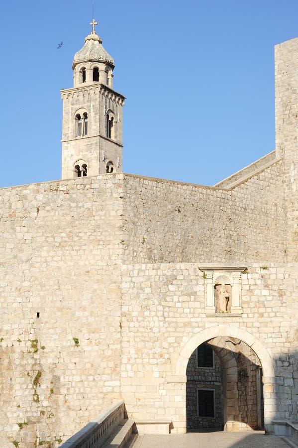Ploce door at the citadel of Dubrovnik. In Croatia royalty free stock photography