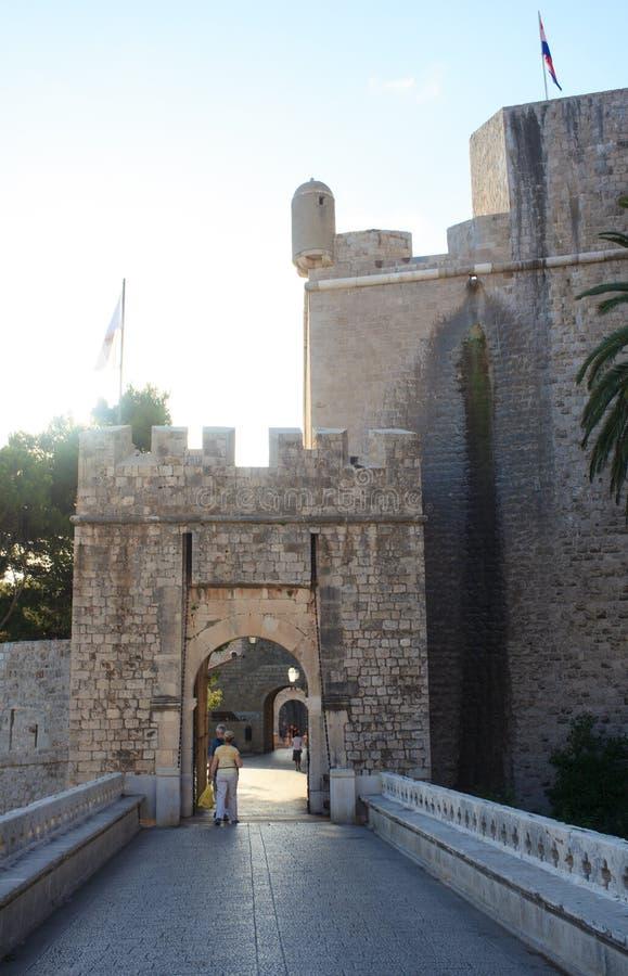 Ploce Door of Old Town of Dubrovnik, Croatia. View of Ploce Door of Old Town of Dubrovnik, Croatia royalty free stock image