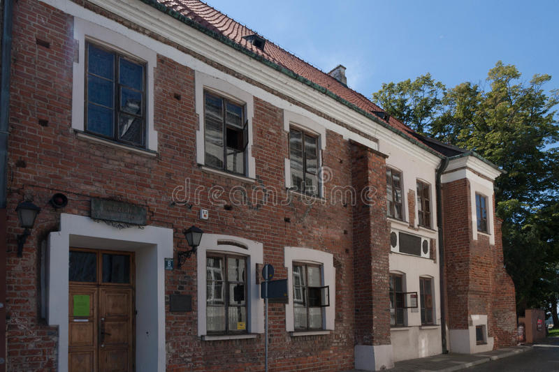 Plock old town in Poland. In the summer stock images