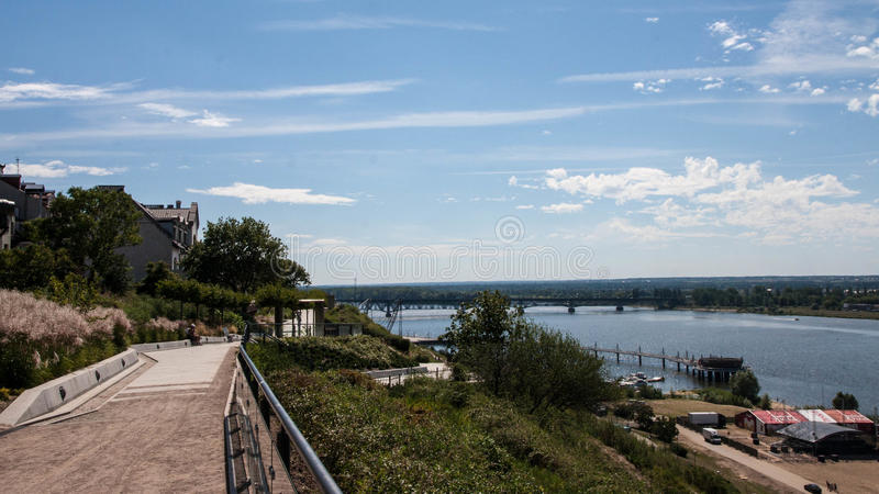 Plock old town in Poland. In the summer stock photo