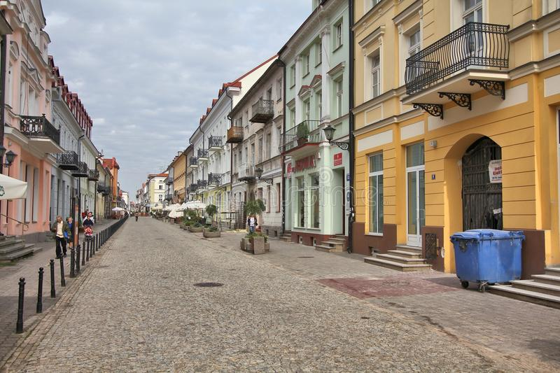 Plock, Poland. SEPTEMBER 7, 2010: People visit Old Town in . With 127,000 people Plock is among 30 largest cities in Poland. It dates back to the 9th century royalty free stock photography