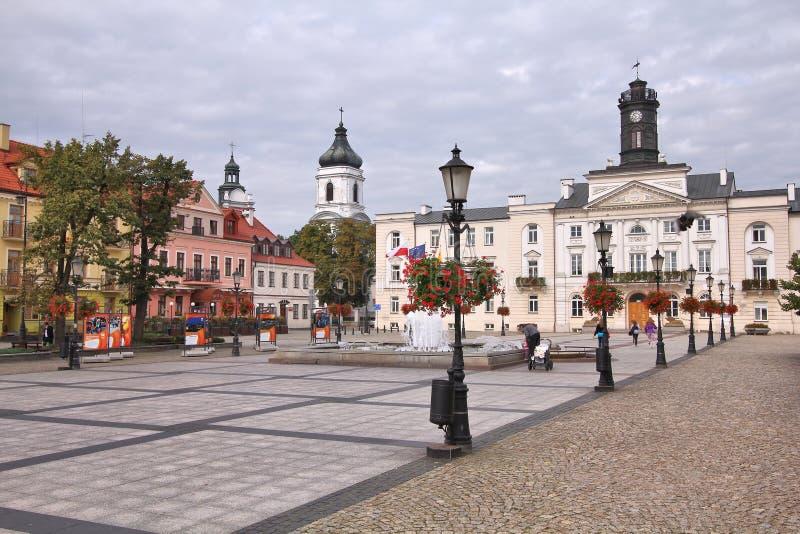 Plock, Polen stock afbeelding