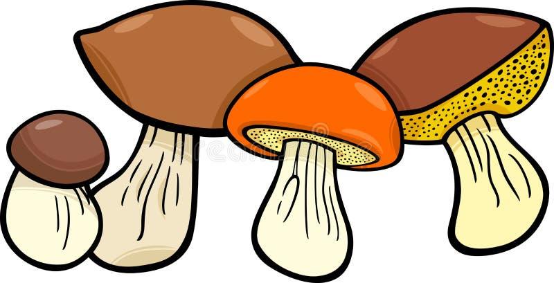 Plocka svamp matobjektgruppen stock illustrationer