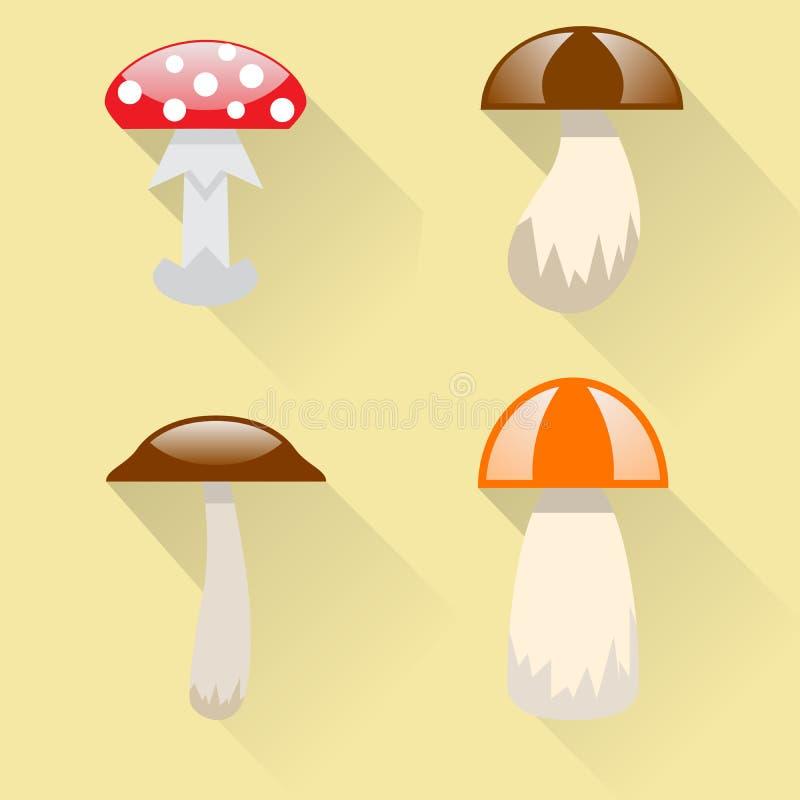 Plocka svamp symbolen vektor illustrationer