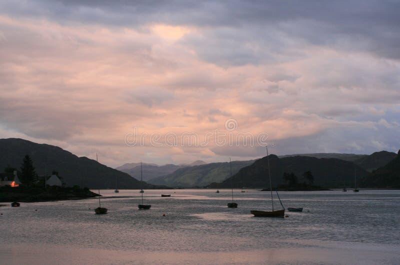 Plockton - Шотландия стоковая фотография rf