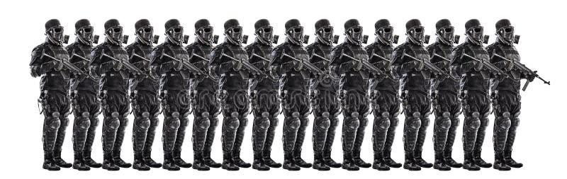 Ploeg van futuristische nazi militairen stock fotografie