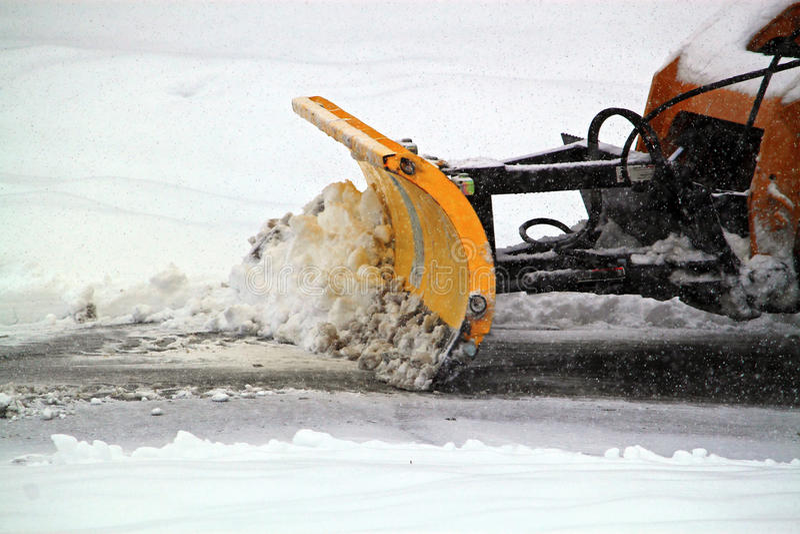 Ploegende Sneeuw royalty-vrije stock foto's